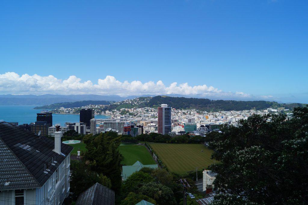 Blick vom Stadtteil Kelburn auf Wellington