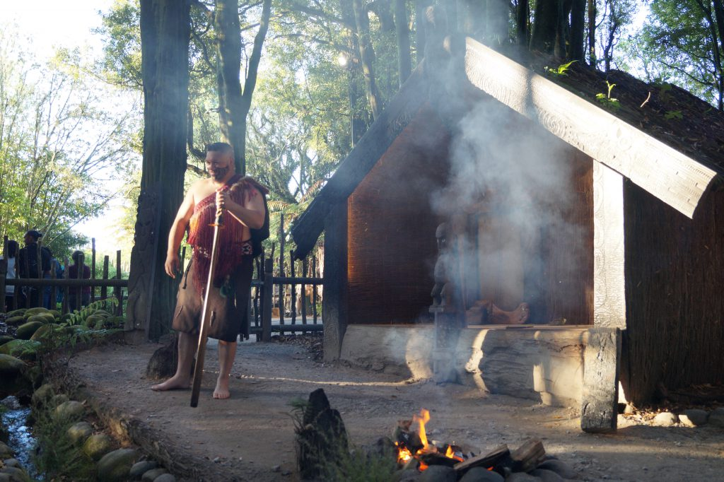 Maori-Abend im Tamaki Maori Village in Rotorua