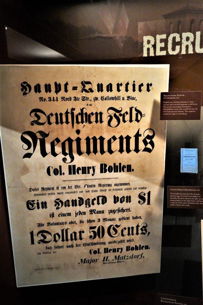 Auch in den USA lebende Deutsche kämpften im Bürgerkrieg