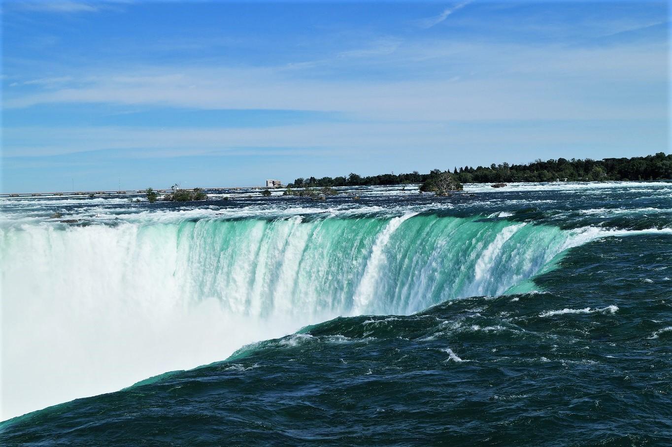 Die Fallkante der Horseshoe Falls