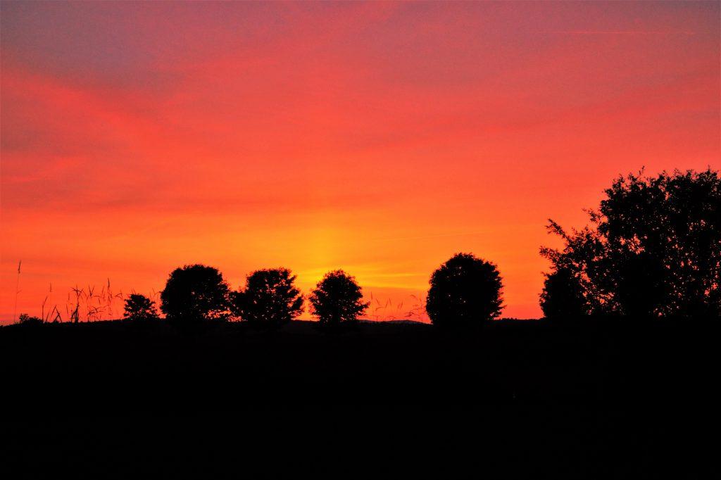 Sonnenuntergang in Vermont
