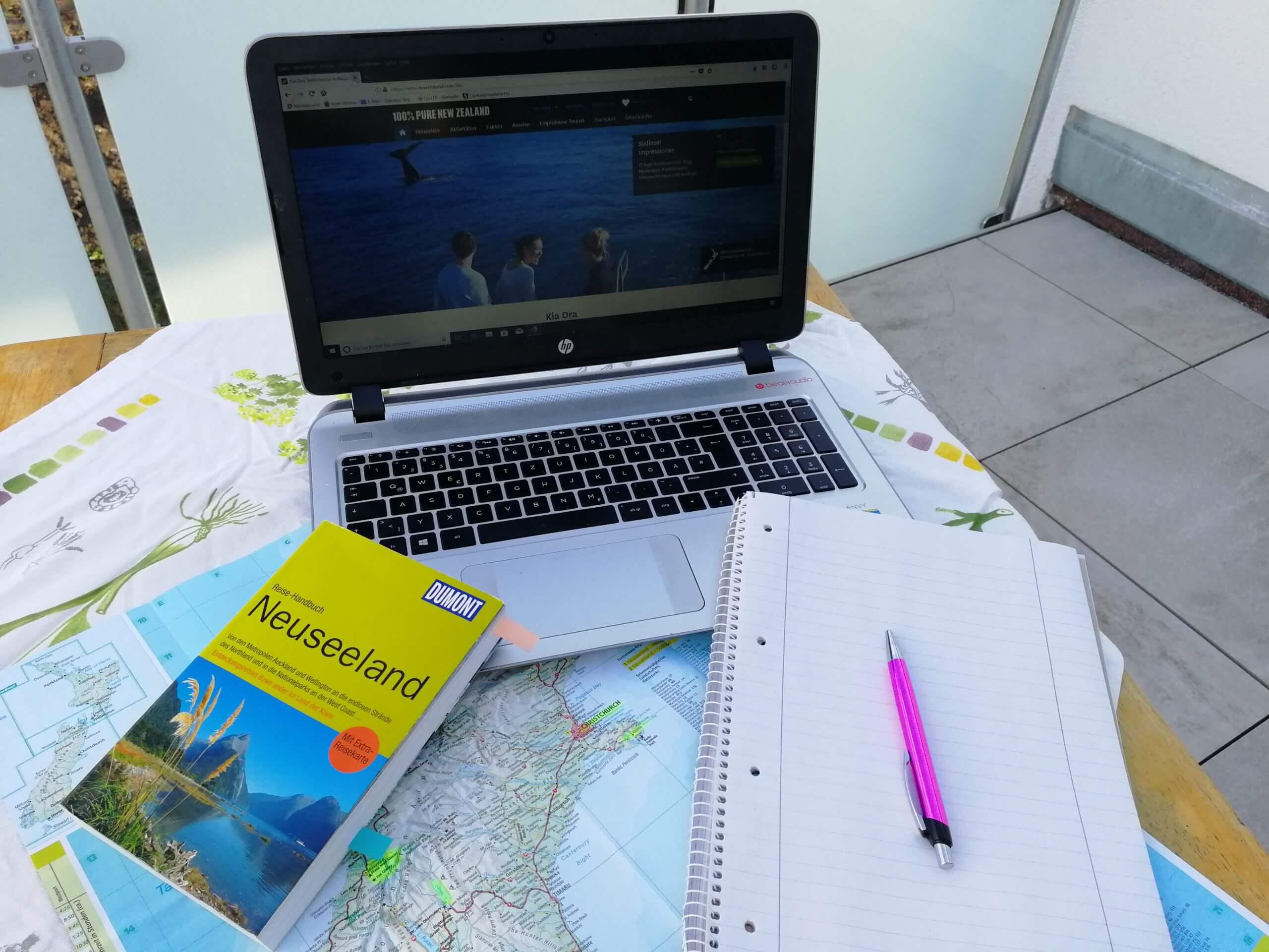 Reisevorbereitung Neuseeland