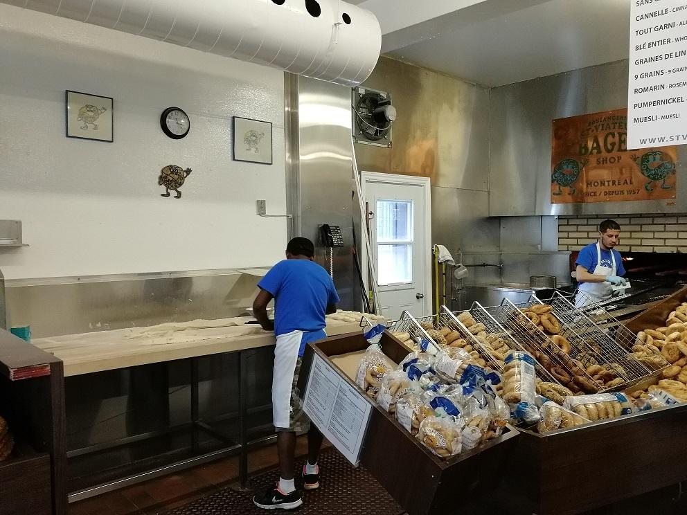 Bagels in allen Variationen in Montreal