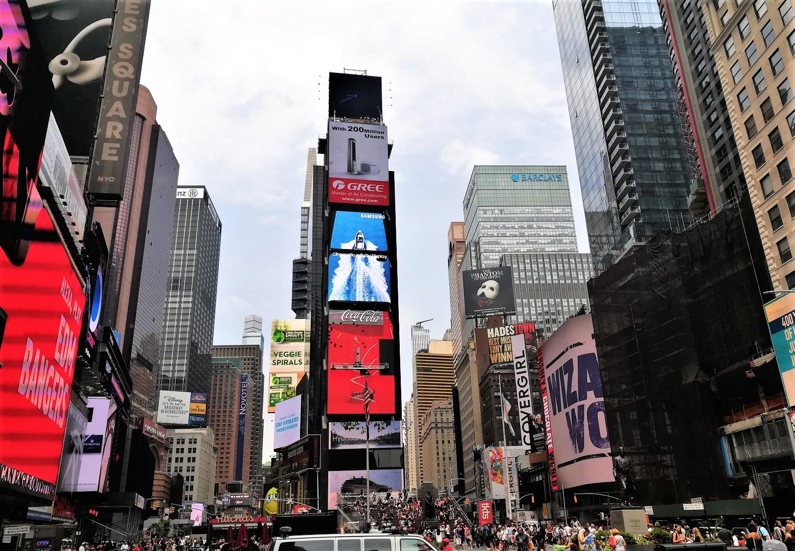 Das bunte Treiben am Times Square