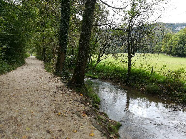 Der Wanderweg entlang des Brühlbach