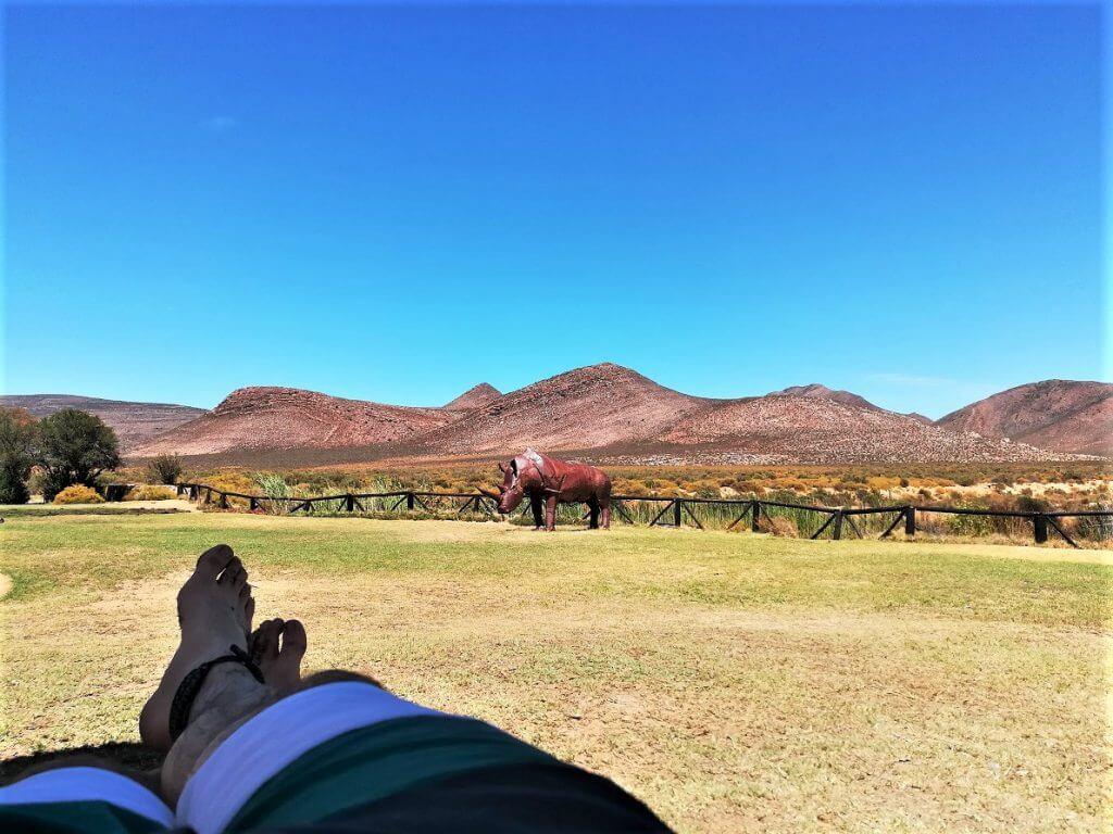 Entspannung mit Aussicht im Aquila Safari Park in der nähe von Kapstadt