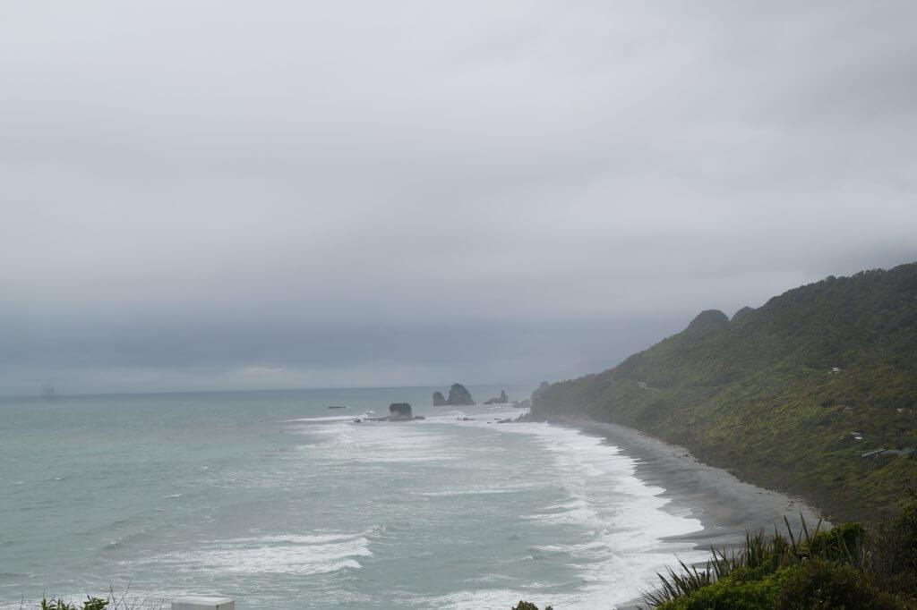 Kilometerlange Strandabschnitte im nord-westen der Südinsel