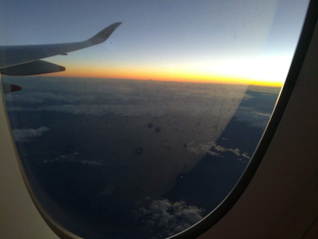 Unser Neuseeland Flug über Singapure