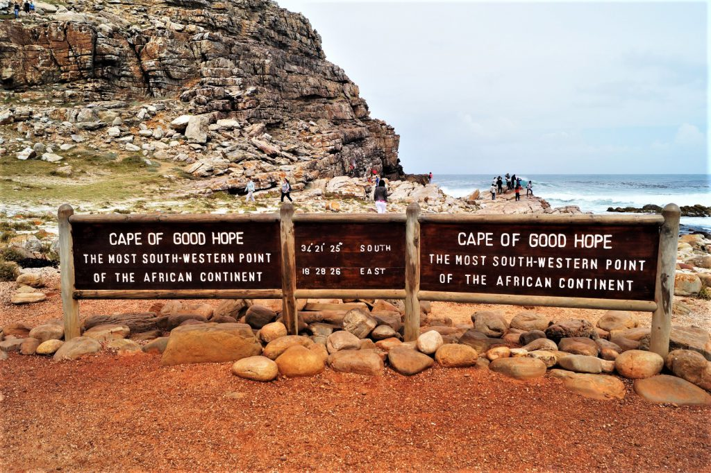 Das Schild am Cape of Good Hope eines unserer Highlights in Kapstadt