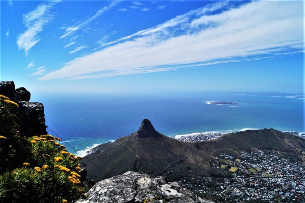 Der Tafelberg, neben Neighbourgoods Market und einem Helikopter Flug ein weiteres Highlight in Kapstadt