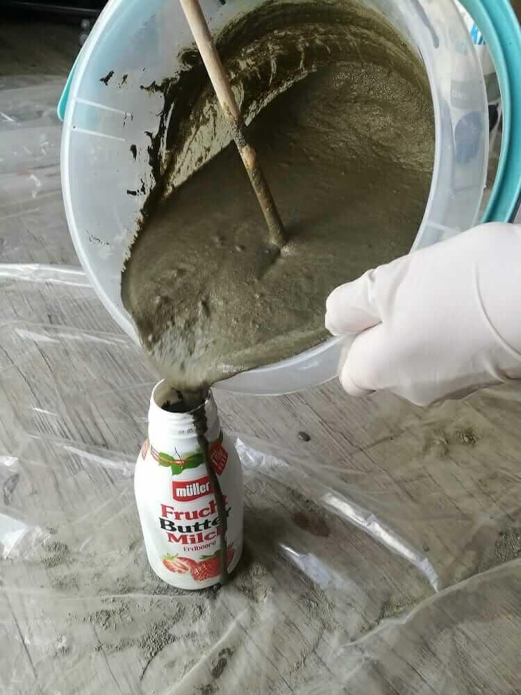 Betonvase selber machen - Beton in Form gießen