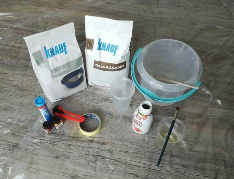 Betonvase selber machen - die Vorbereitung